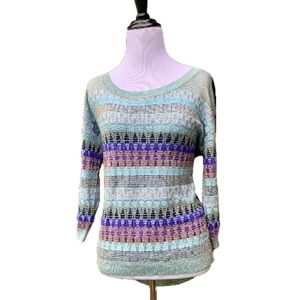 Guess sweater multi-color size S